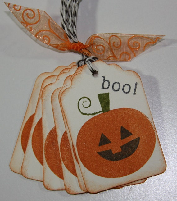 Pumpkin Halloween Treat Bag/ Halloween Tags