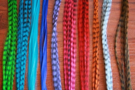 20 Cruelty Free/SYNTHETIC Grizzly Hair Extensions 15 to 16 inches and 20 Silicone Micro Links ...You Choose The Colors of Both S