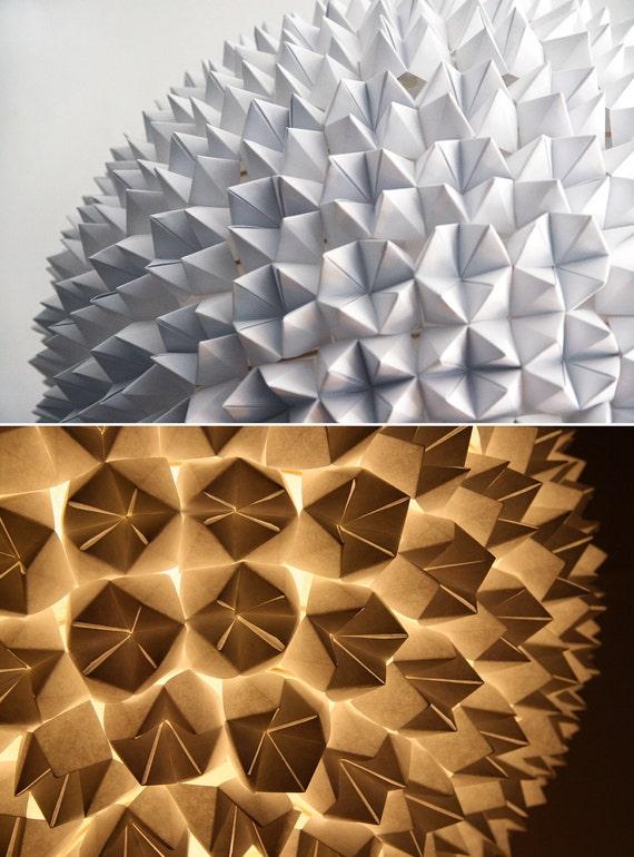 Большой Грановитой Свет Подвеска - белый сложенный лист бумаги висячие лампы сфере
