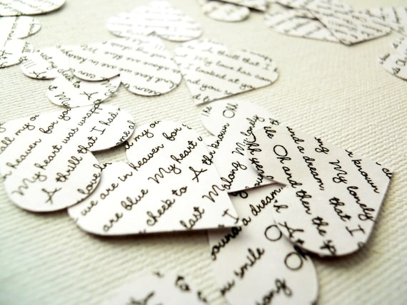 Custom Confetti, Paper Heart Cutouts 280 Double Sided Wedding Confetti