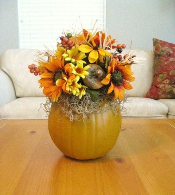 Осень Centerpiece - осень Цветочные Centerpiece - Осень тыквы Таблица Композиция
