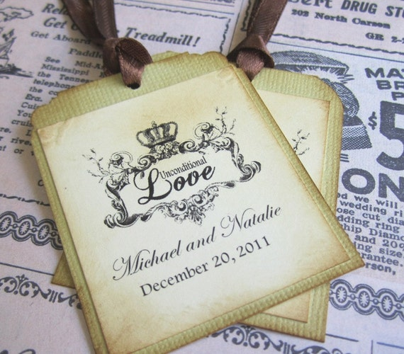 Unconditional Love Wedding Tags - Set of 16