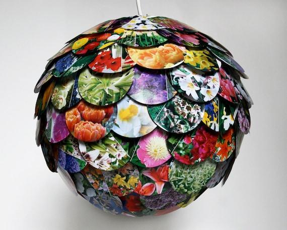 Артишок Смешанные Цветочный Свет Подвеска - Висячие бумажный фонарь - Тень только