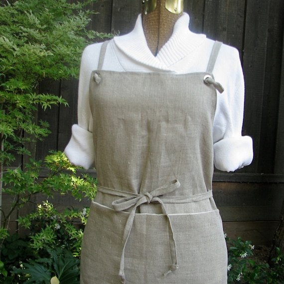 Full Apron - Natural Linen