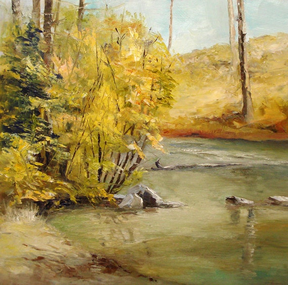 October Morning, Tumalo Creek - original oil painting