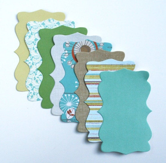 "Decorative die cut Shapes ""Happiness"" (8)"