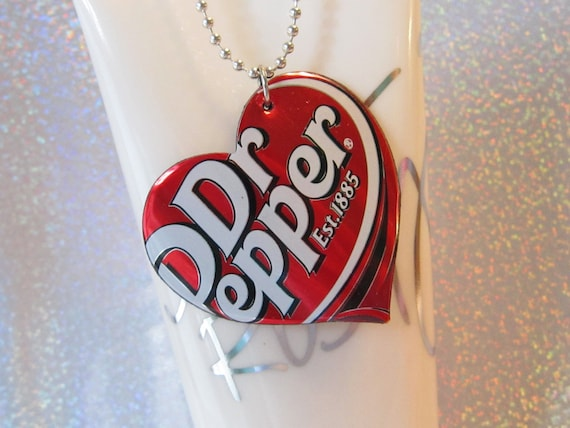 Dr. Pepper Pop Can Necklace Cute Teen Jewelry