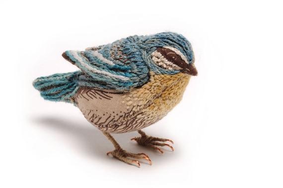 Blue Tit Small Fabric Bird