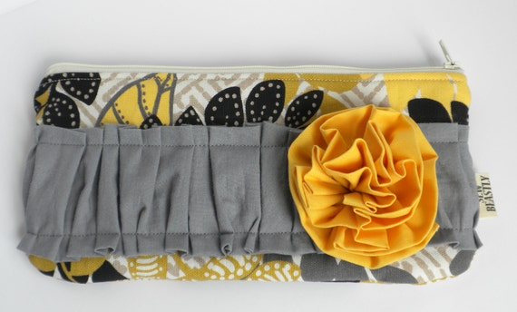 Yellow, Grey, & Black Clutch: The Obnoxious One In Sunny Meadow