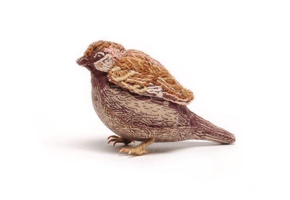 Sparrow Small Fabric Bird