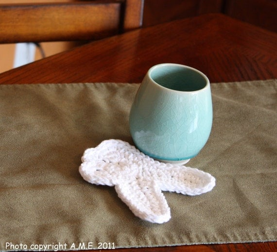 Crocheted Coaster, Molar, Cotton
