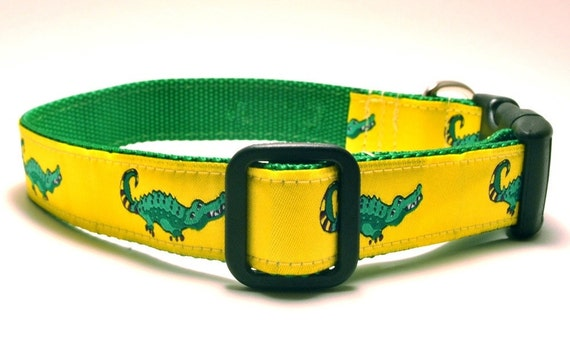 Yellow Gators - 3 Pooches Collar