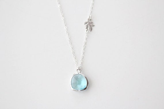 Something New and Blue Necklace - Silver