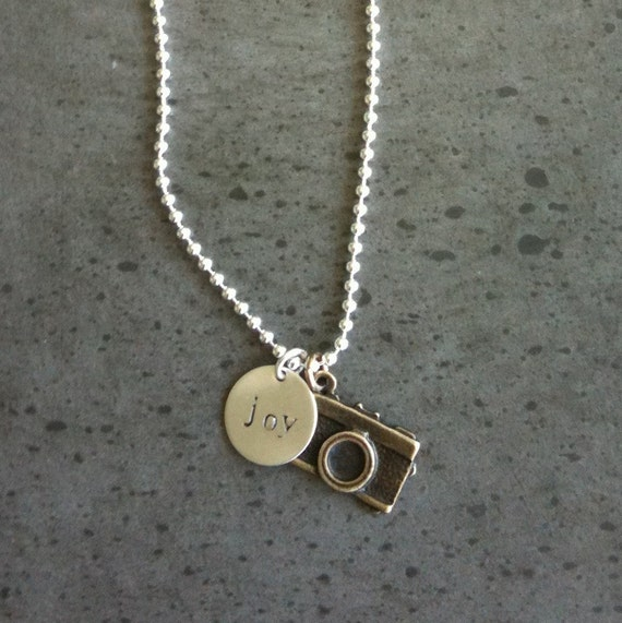 Sterling Camera Joy Necklace