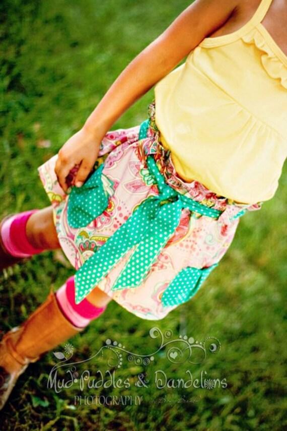 Sophia Paper Bag Skirt PDF Sewing Pattern Includes Sizes Newborn 3 6 9 12 18 mo 2T 3T 4 5 6 7 8 9 10 12 14