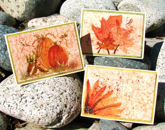 Fall Colors - Original Watercolor Cards