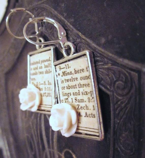 Nostalgia Antique Paper Earrings