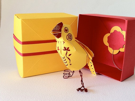Canary Yellow Message Bird