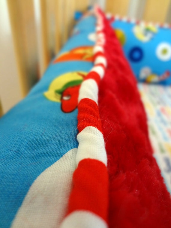 Add Piping to your Custom Crib Bumpers.