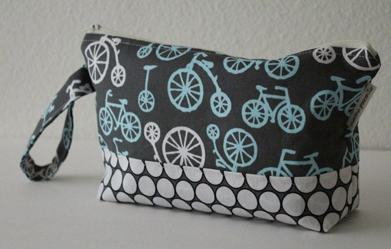 diaper clutch / diaper and wipes case - bicycles