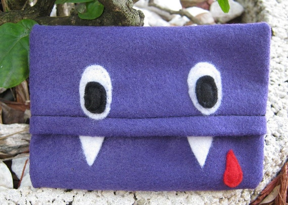 Fangs Pocket Pals Tiny Tissue Cozy/Holder by PinkFrog4U on Etsy from etsy.com