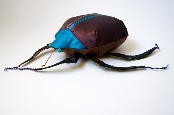 Fabric Beetle / Silk Cotton / Plum / Coleoptera