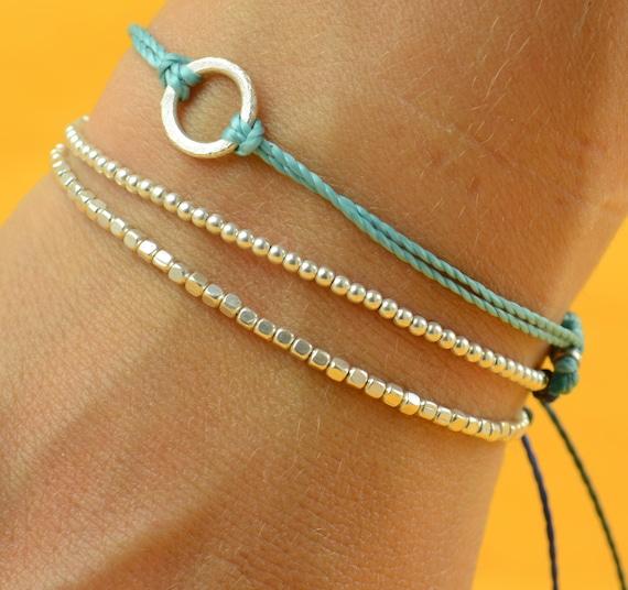 Beads. Sterling silver bracelet