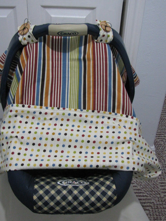 Stripes & Dots Reversible Carseat Cover SHOP SALE