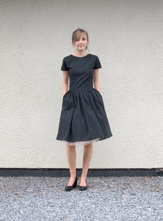 Ma Bicyclette: Buy Handmade   Dresses - Make Me A Dress handmade black simple dress with tutu underskirt