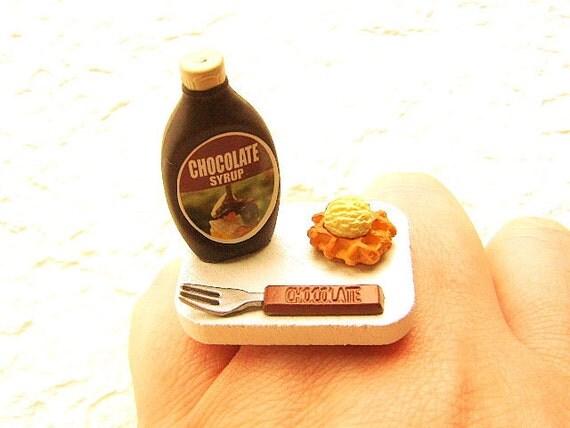 Food Ring Waffle Ice Cream Chocolate