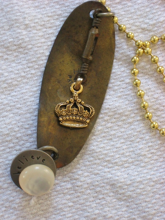 Junk Queen found object necklace