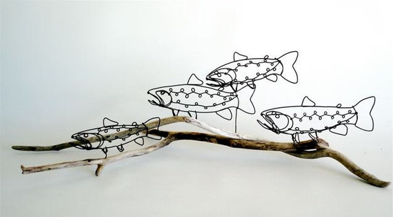 Trout Wire Sculpture