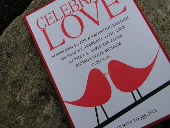 Celebrate Love Bird Invitation