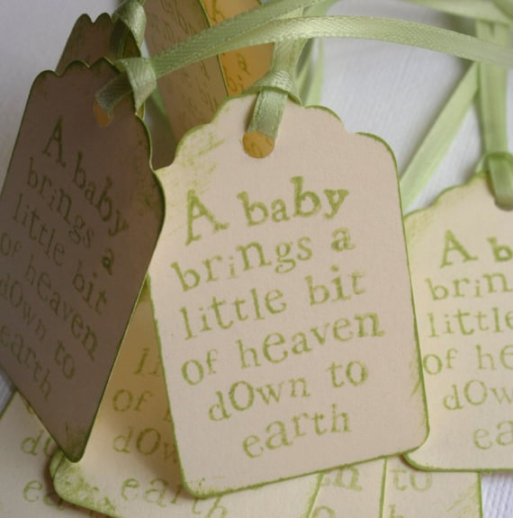 Baby Quote Tags - for Showers or Favors