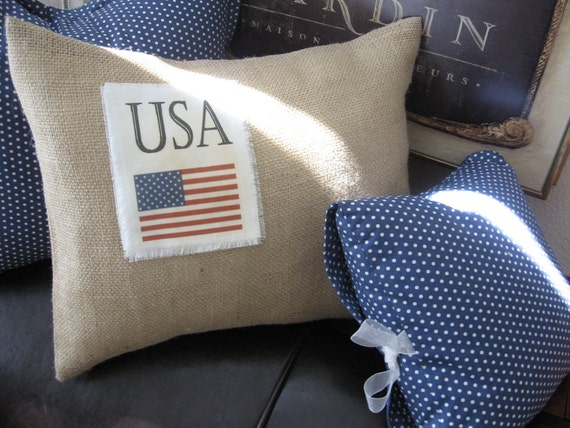 "Pillows - America, New York, Twin Tower, 911, Burlap, Autumn, USA Flag, Fall, Home Decor, Memorial, Patriotic, Accent, Industrial 15"" x 18"""