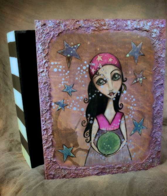 Special of the Day - The Gypsy That I Was - Mixed Media Wooden Box