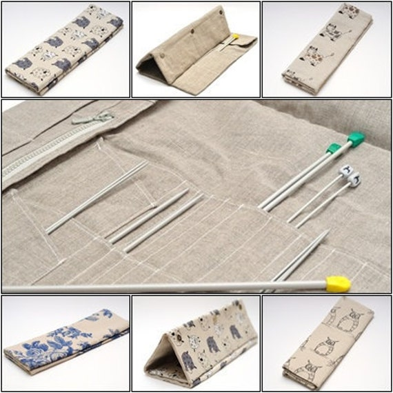 Long Needles, Short Needles, Crochets and Hooks Case. Knitting needles Organizer Holder