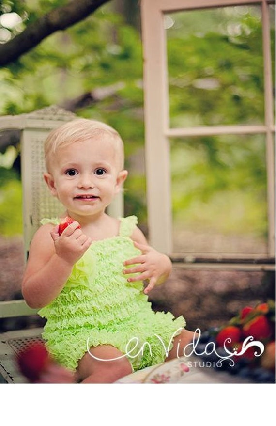 Pettiskirt Bubble Romper - Lime Green