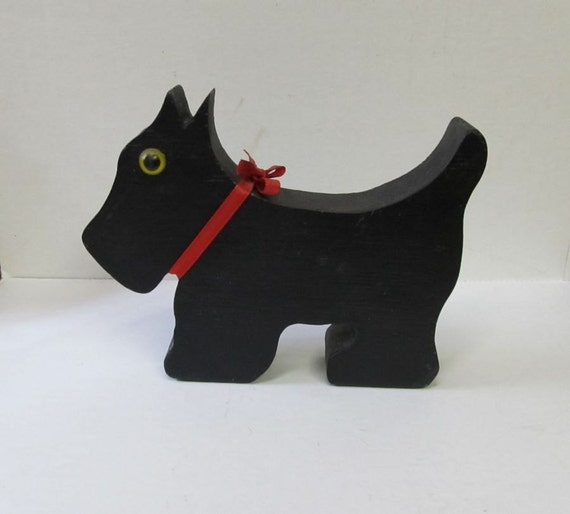 Vintage Wooden Scottie Dog, Scotty Dog