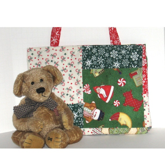 Santa Is Coming Patchwork Bag