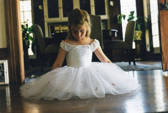Silk and tulle ballerina style flower girl dress