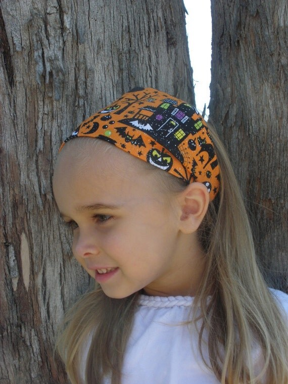 Child's Wide Fabric Halloween Headband