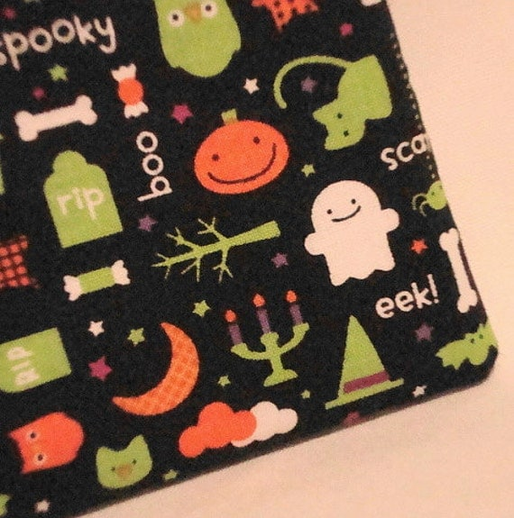 Kawaii Halloween Ghosts and Kitties Zippered Pouch  by WolfBait from etsy.com