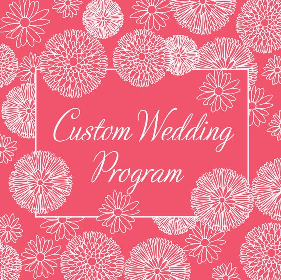 Custom Rustic Modern Wedding Program