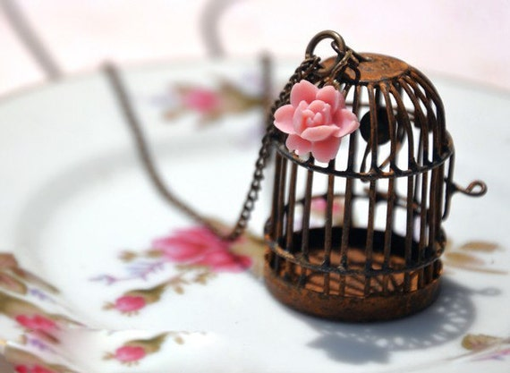 Vacancy Bird Cage Necklace