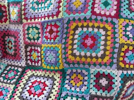 Granny square gipsy brown
