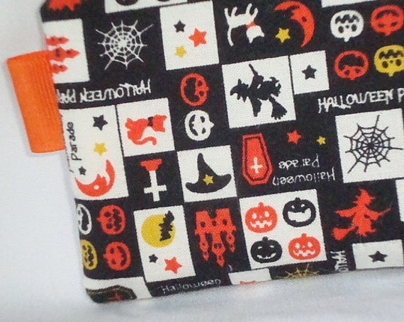 Halloween Montage Zippered Pouch  Black Camera / IPod by WolfBait from etsy.com
