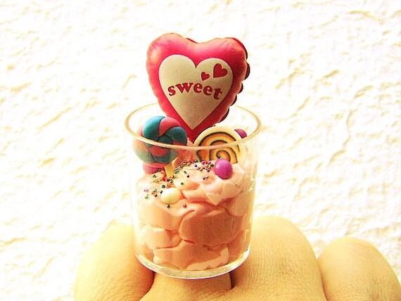Кольцо Мороженое Kawaii Candy Воздушный шар продовольственная