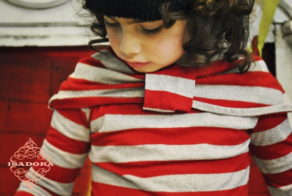 Girls Stripe Bow t-shirt Candy Cane Christmas size 7-10