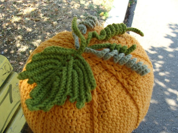 Crochet Funny Halloween Pumpkin Hat Girlie Teens Adults Orange Olive Green Autumn Fall Winter Accessories designed by dodofit on Etsy